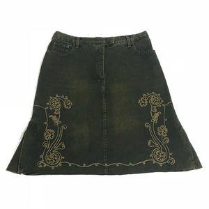Jean Paul Gaultier Skirts - Jean Paul Gaultier Vintage 100%Cotton Green Skirt